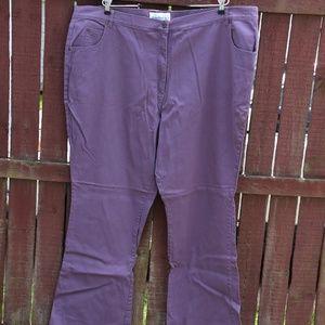 Denim 24/7 Purple Jeans 30W tall Brand New!